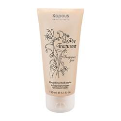 Абсорбирующая грязевая паста для жирной кожи головы Kapous Treatment 150 мл - фото 36592