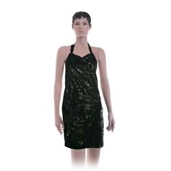 Фартук мастера Dewal для стрижки Love, полиэстер,черный, с карманами на молниях 66x78 см - фото 40311