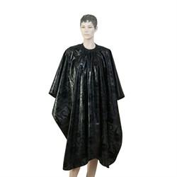 Пеньюар для стрижки Dewal Love нейлон черный 138x150 см на крючках - фото 40330