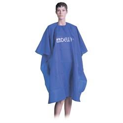 Пеньюар для стрижки Dewal, нейлон, голубой 128х140 см, на крючках - фото 40348