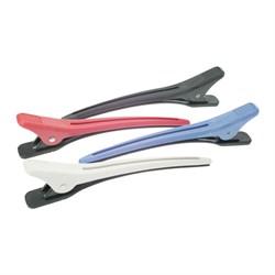 Зажим для волос Dewal цветной, пластик, 12,4 см 4 шт/уп - фото 40604
