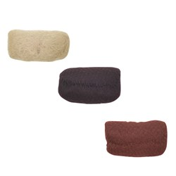 Валик для прически овальный Dewal, искусственный волос + сетка 18х11 см - фото 40763