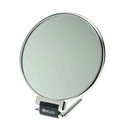 Зеркало настольное Dewal, пластик, серебристое 14х23 см - фото 40842
