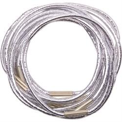 Резинки для волос Dewal, серебристые, midi 10 шт/уп - фото 40878