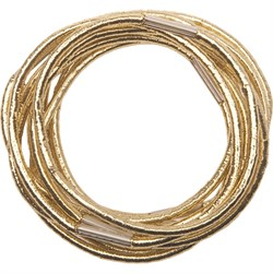 Резинки для волос Dewal, золотистые, midi 10 шт/уп - фото 40879