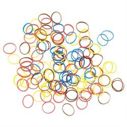 Резинки для волос Dewal, силиконовые, цветные 100 шт/уп - фото 40886