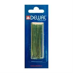 Шпильки Dewal коричневые, прямые 60 мм, 24шт/уп, на блистере - фото 41006