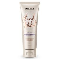 Шампунь Indola Blond Addict Instacool для холодных оттенков 250 мл - фото 44122