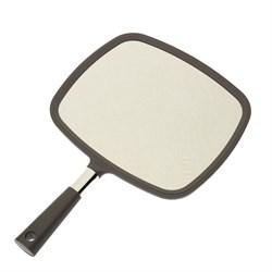 Зеркало заднего вида Dewal пластик серое с ручкой 33,5х23 см - фото 44667