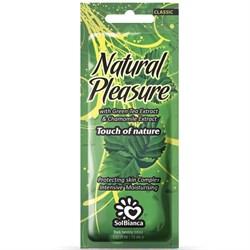Крем для загара в солярии Natural Pleasure с экстрактом зеленого чая и ромашки SolBianca 15 мл - фото 44867
