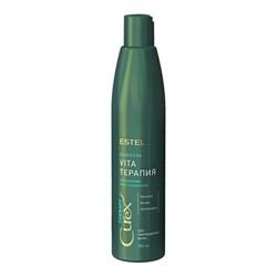 Шампунь для сухих,ослабленных и поврежденных волос Estel Curex Therapy 300 мл - фото 46120
