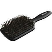 Щетка массажная Dewal BLACK лопата деревянная, натуральная щетина+пластиковый штифт, 11 рядов