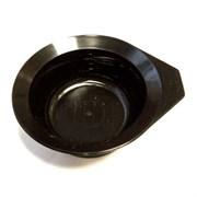 Чаша для краски Dewal, черная, с ручкой, с резинкой на дне 260 мл