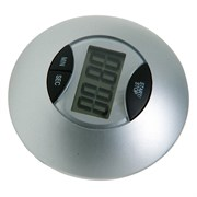 Таймер Dewal NTM005, электронный, круглый, серебристый