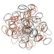 Резинки для волос Dewal RES034, силиконовые, цветные, mini 100 шт/уп