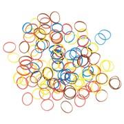 Резинки для волос Dewal, силиконовые, цветные 100 шт/уп