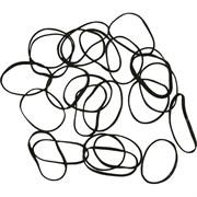 Резинки для волос Dewal, силиконовые белые mini 100 шт/уп