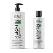 Шампунь для реконструкции и глубокого восстановления волос Epica Keratin Pro